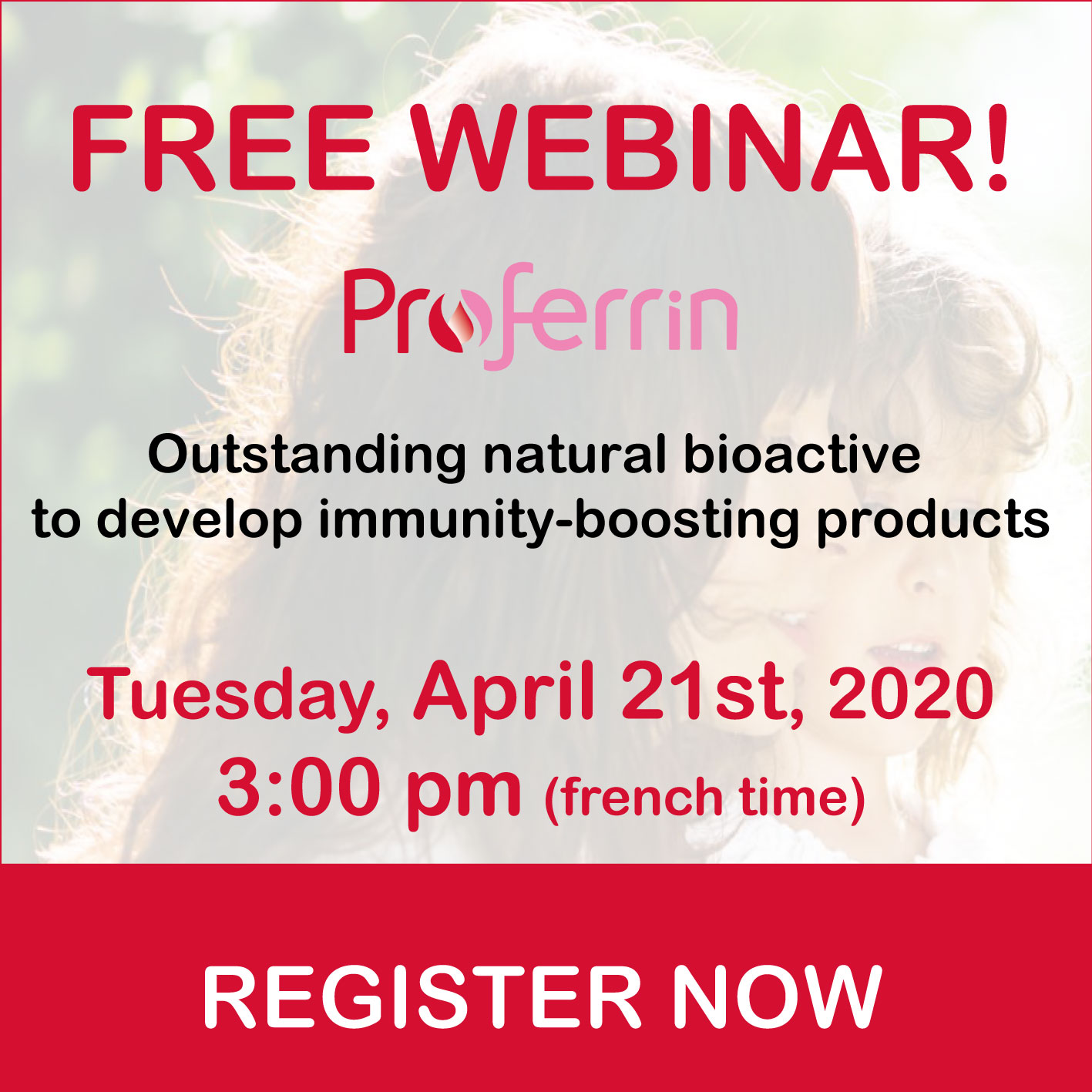 webcast Proferrin natural bioactive to develop immunity boosting products lactoferrin health